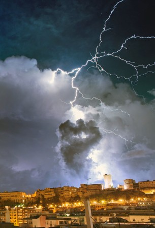 Sardinia is usually hit by heavy storms from late August until November.