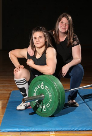 The school girl has been weightlifting since she was a 12 year old