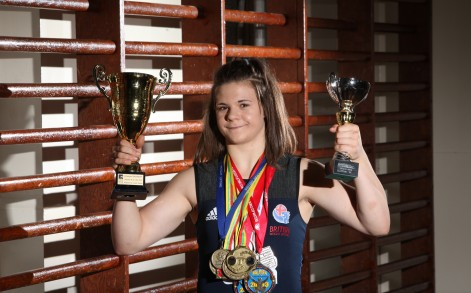 Having broken over 200 weightlifting records, Rebekah can outlift competitors almost twice her age.