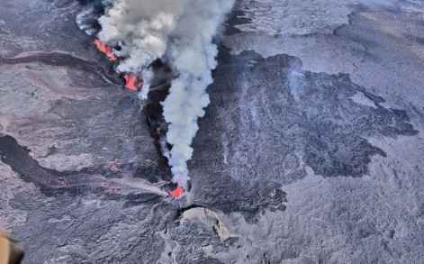 Volcano close up iceland