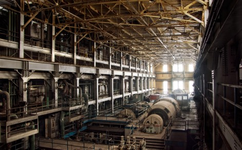 This is the Turbine Hall of the Westport Generating Station in Baltimore, Maryland which was demolished in 2008, providing a view into the industrial past.