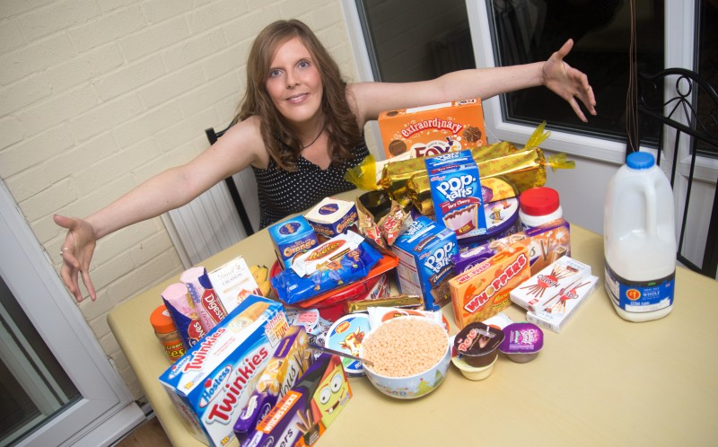 Tiny Emma Dalton scoffs through 8,000 calories a day