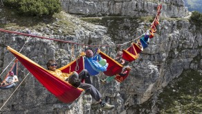 The International Highline Meeting takes place at Monte Piana, Italy