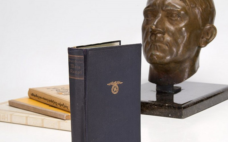 Adolf Hitler's personal copy of Mein Kampf is set to fetch more than $100,000 (£62,000)