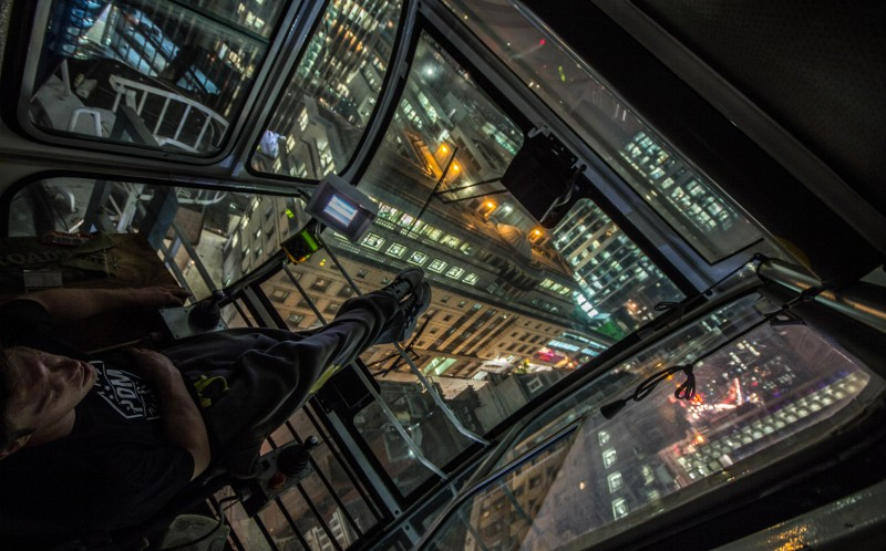 On top of the world: The selfies are taken on top of some of London's tallest buildings