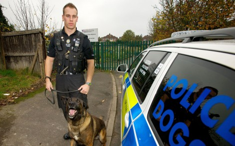 Bodie has retired after tens years of service for  Leicestershire Police