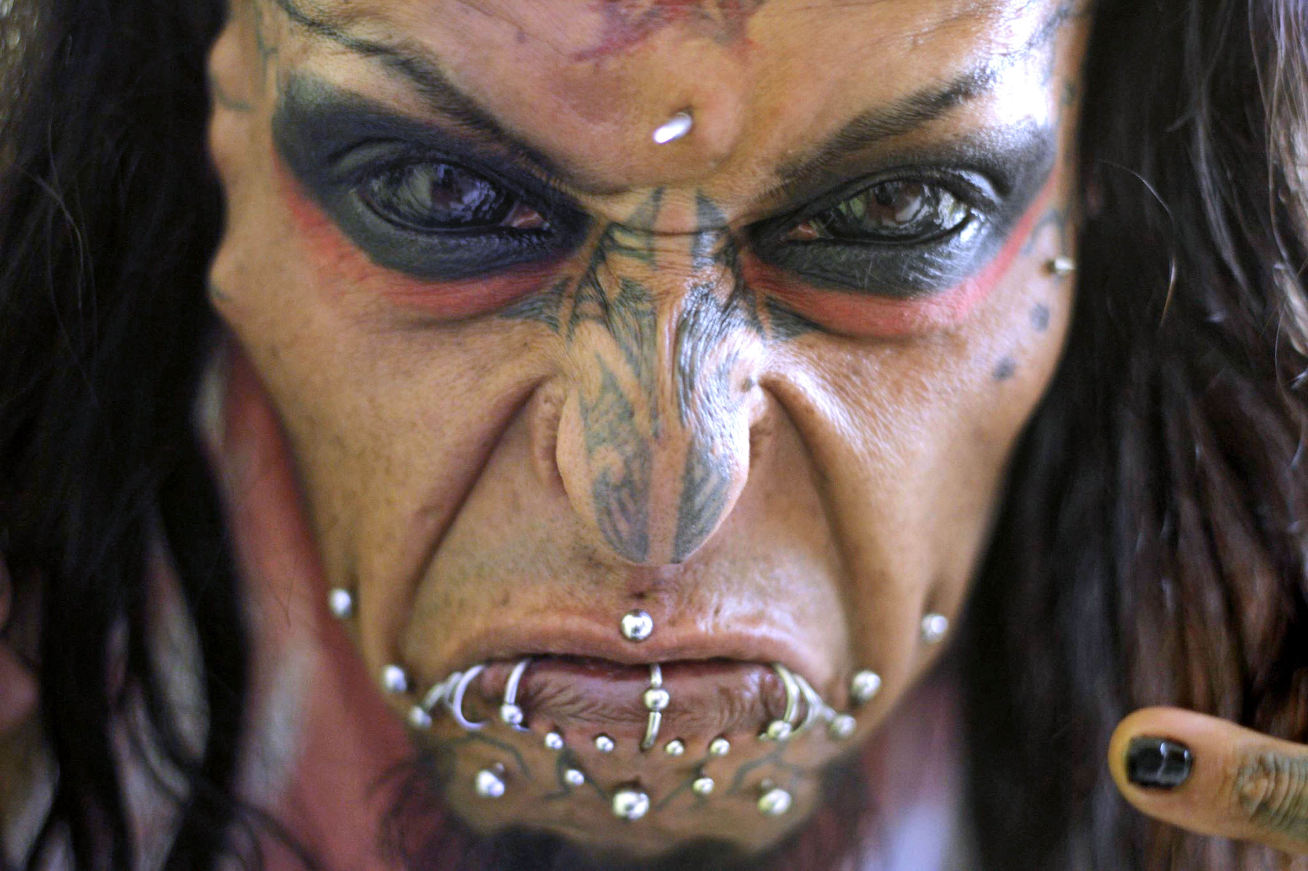 meet the terrifying devil man of colombia with completely