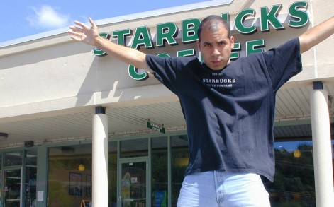 Despite his obsession, the coffee chain fanatic actually prefers independent coffee outlets