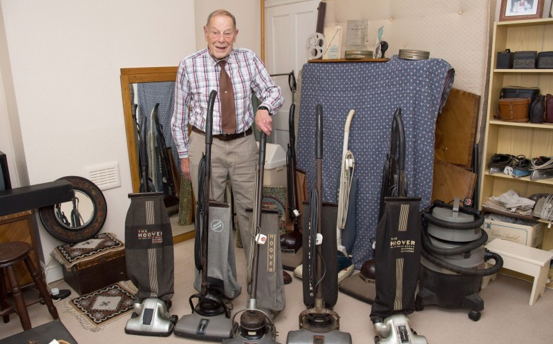 Bill started collecting vintage vacuums and he now has a collection of 20 stored in his spare bedroom
