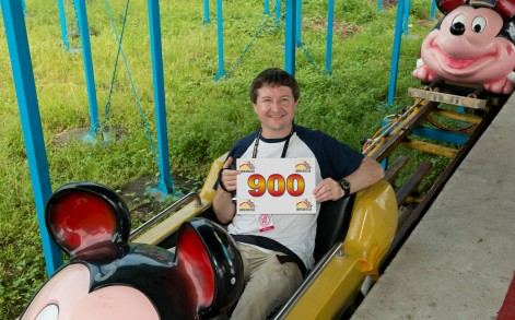 David, an accountant, has been riding coasters for 38 years.