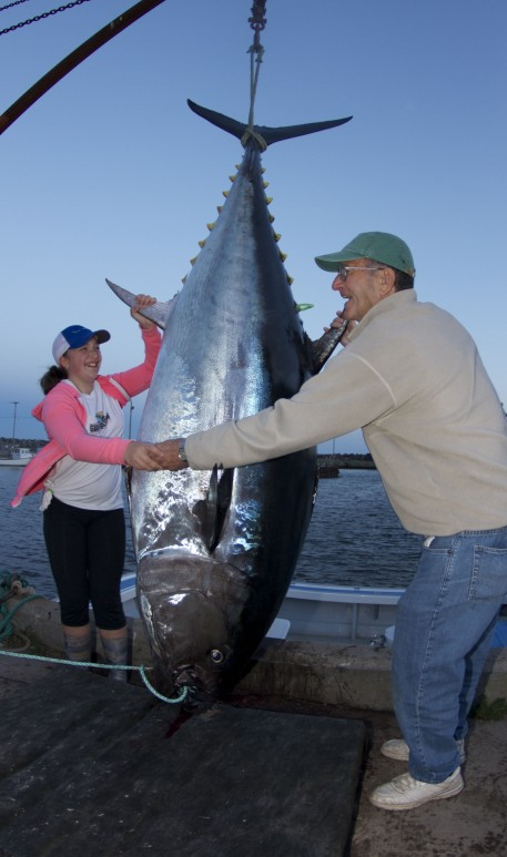 Girls Giant Tuna Catch