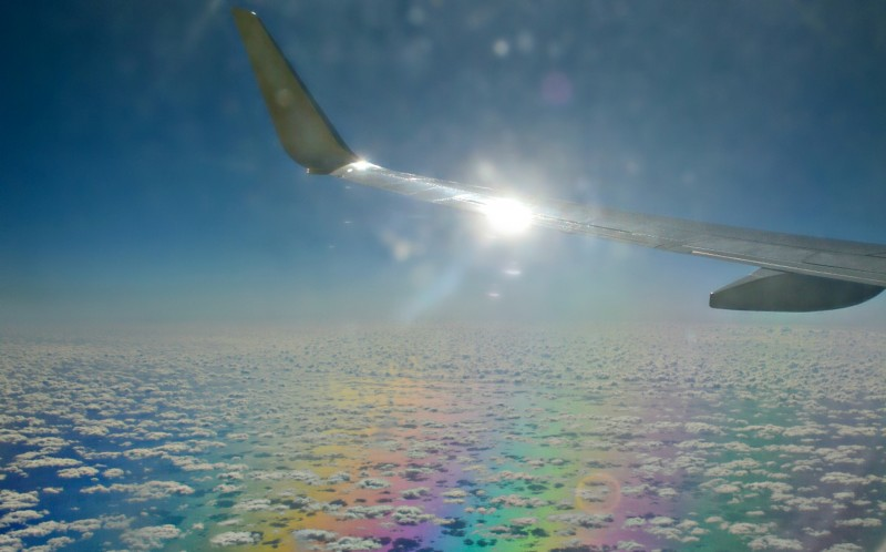 Traveling over a rainbow