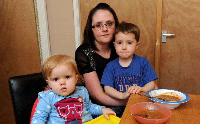 Clare Bradshaw, 33, found a maggot in a tin of soup she was feeding to her 14-month-old daughter, Emily-Mai
