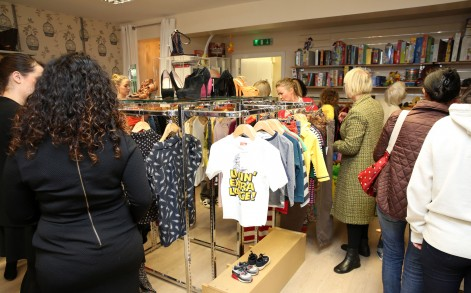 """Rachel Taylor, the retail manager for Women's Aid in Birmingham, said: """"I can't believe it- it's crazy around here."""""""