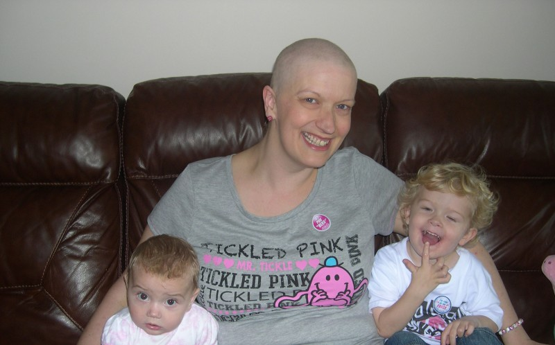 After six gruelling rounds of chemotherapy Nicola has finally been given the all clear