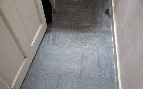 Immaculate: The finished flooring which has now concealed the creepy visage
