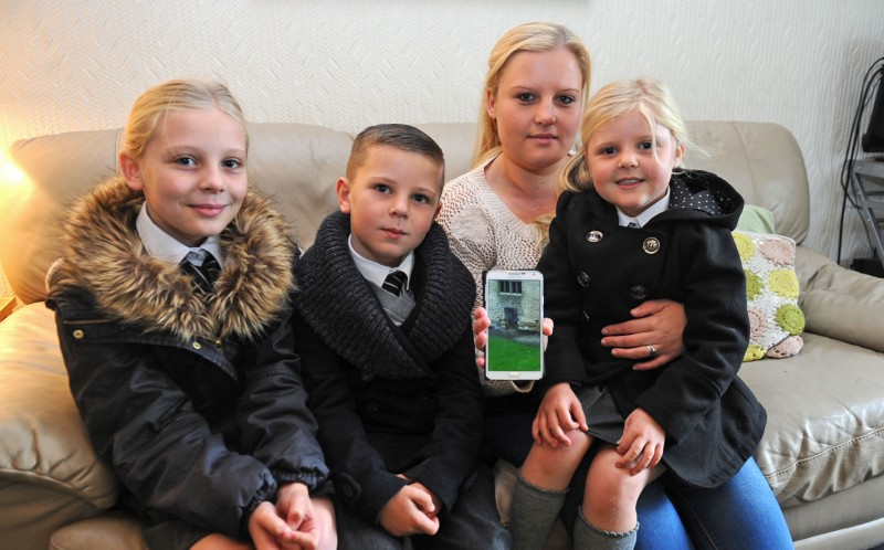The Harpers were on a family day out when Amy Harper, 28, caught the ghost on camera