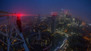 The heart-stopping image shows London's gloomy skyline at night