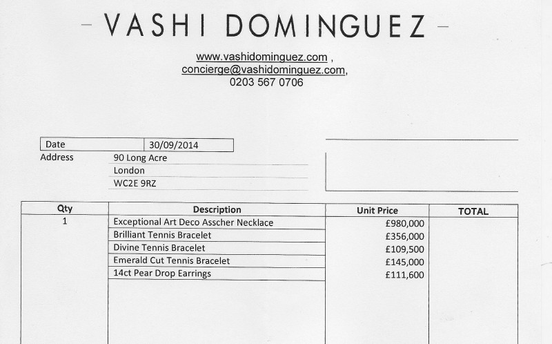 The invoice for the whopping £2m spending spree