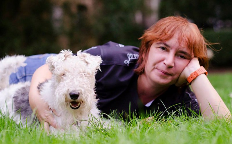"Lisa Owen-Jones, 44,  said: ""I love my job, I can't think of a better way to spend my time than with man's best friend."""