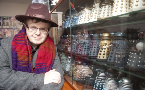 With a whopping 1,573 items, it is the largest collection of Doctor Who keepsakes in the world