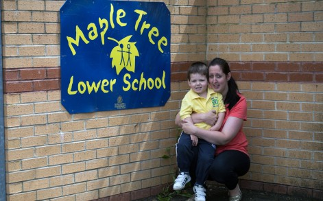 William started at Maple Tree Lower School in Sandy, Bedfordshire at Easter