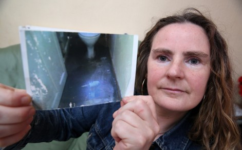Freda Murphy said she was astonished to find the son of God in the black shiny floor