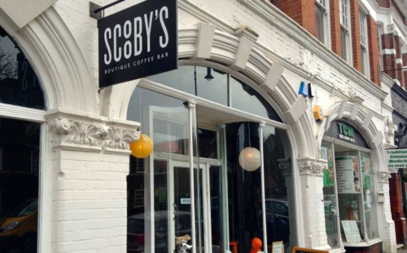 Scooby's menu includes doggy lollypups, cheese bone biscuits, Flap Jack Russels, Dog-gestives and Puppaccinos