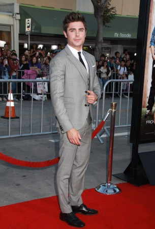 Zac Efron suits up for the red carpet