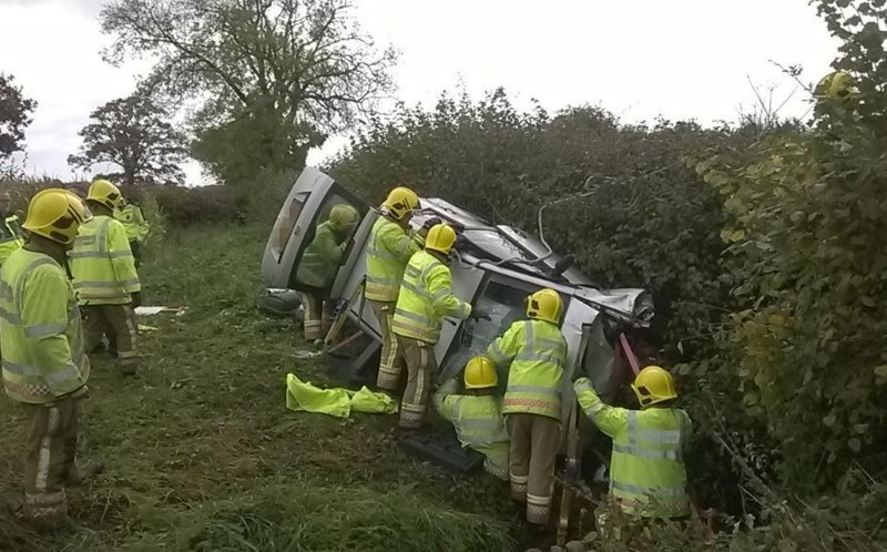 Adam Davidson, 36, was trapped in his car for nine hours after a horror crash - butsurvived without a scratch