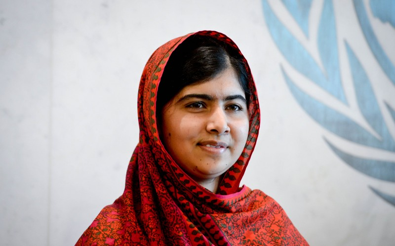 Education advocate Malala Yousafzai can be seen here waiting for her meeting with UN Secretary-General Ban Ki-moon before a special event marking 500 days of action for the Millennium Development Goals (MDGs), at the UN headquarters in New York