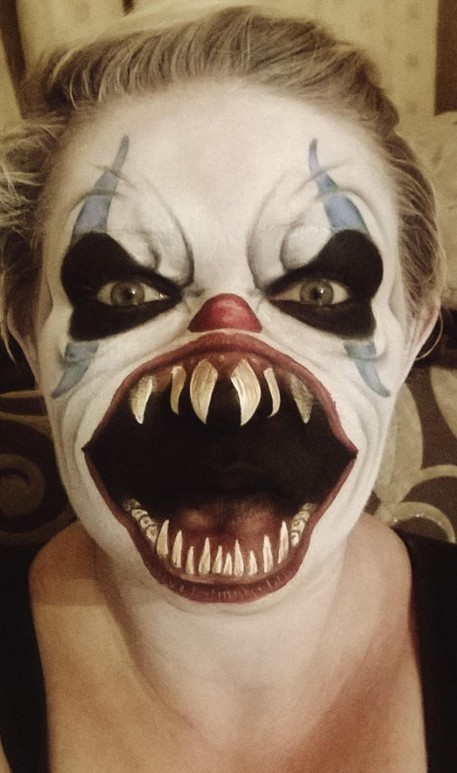 mum 39 s scary face painting goes viral caters news agency