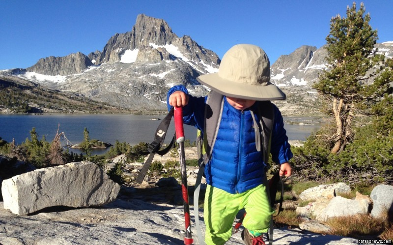 Backpacking toddler Bodhi Bennett has scaled America's most spectacular mountains