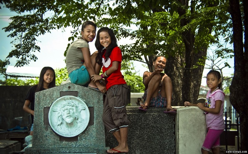 Up to 6,000 grave dwellers live among the dead in the North Cemetery in Manila, Philippines