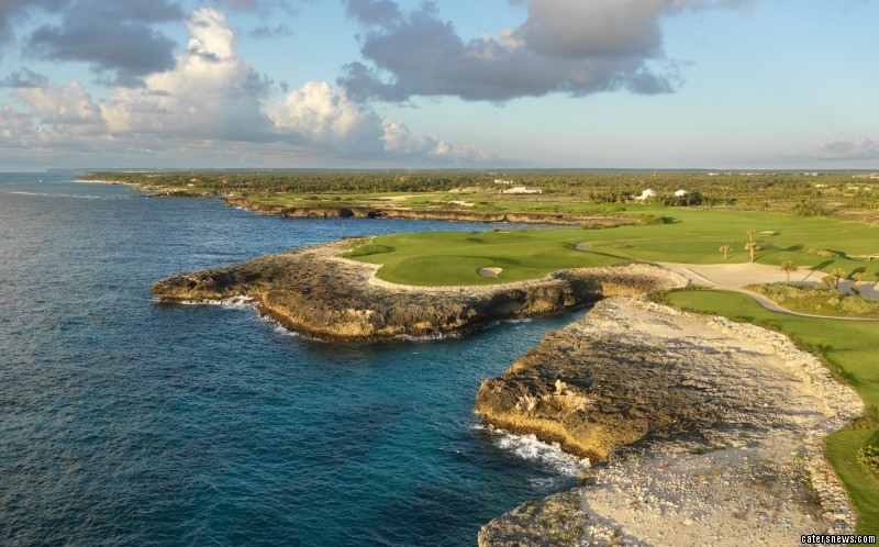 Professional golf course photographer, Evan Schiller, 53, uses lifts, helicopters and even drones to get the perfect shot
