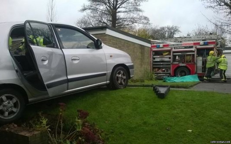"She said: ""Then the car was just teetering on the wall – it's only small so I thought I'd be able to get out."""