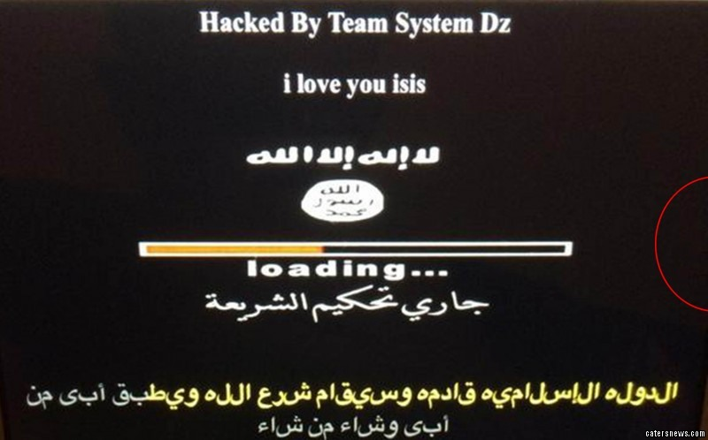 West Yorkshire-based club Keighley Cougars had their website hacked to say 'I love you isis'