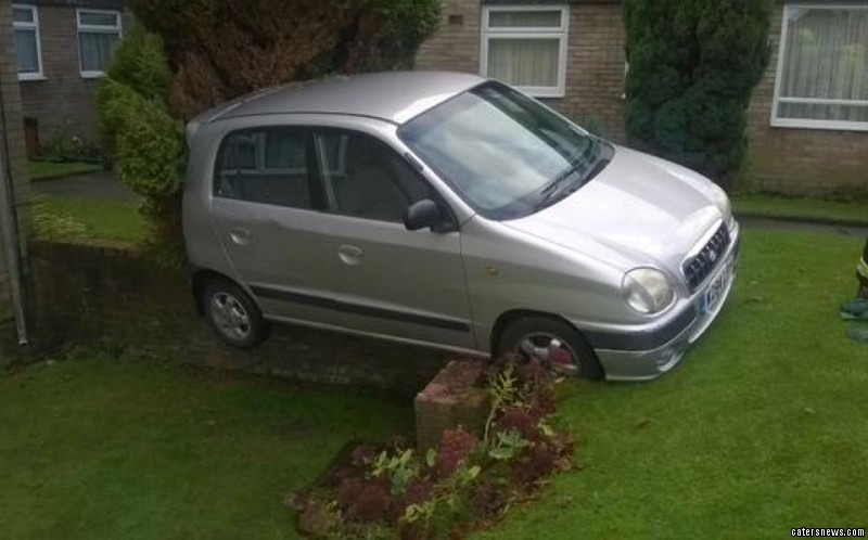 The pensioner's brakes failed and sent her flying onto a nearby wall