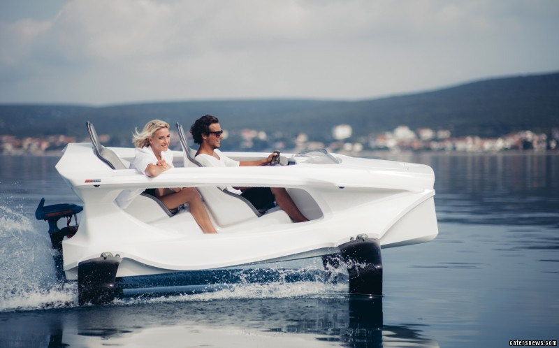 The Quadrofoil allows passengers to fly across water