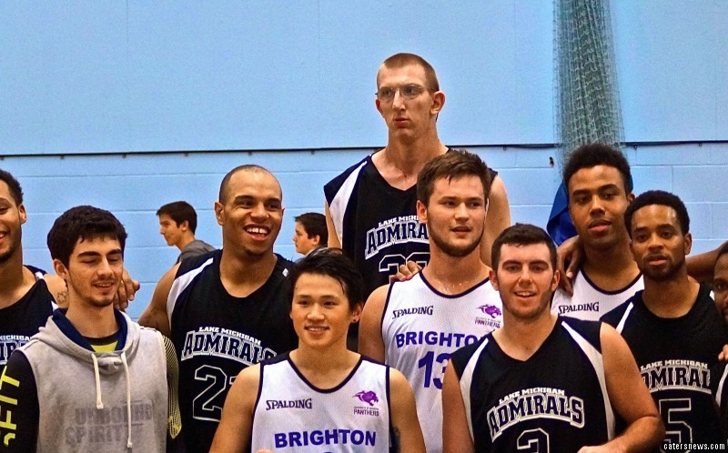 The 21-year-old towers above current record holder Brit Paul Sturgess who stands at 7ft 7.26in