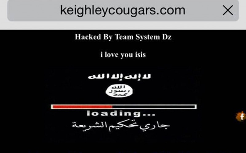 The front page of the site had been changed to a black screen that included the horrifying message