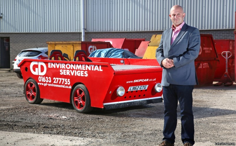 James Norvill (pictured) owns the crackers car which took him six weeks to build