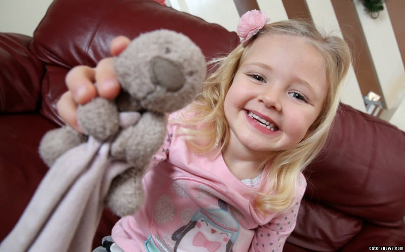 Little Daisy Jewkes lost her favourite teddy on the motorway