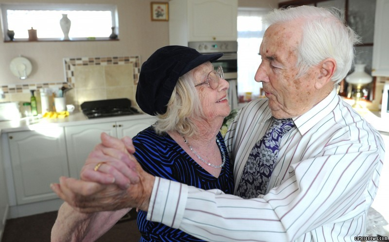 Gladys and Ron Tearne, 91 and 92 are celebrating their 70th wedding anniversary
