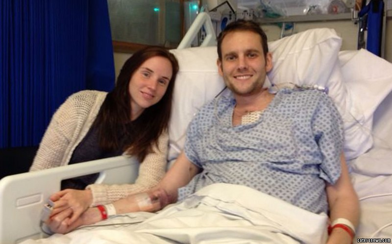 Andrew Britton with wife Lauren after the transplant