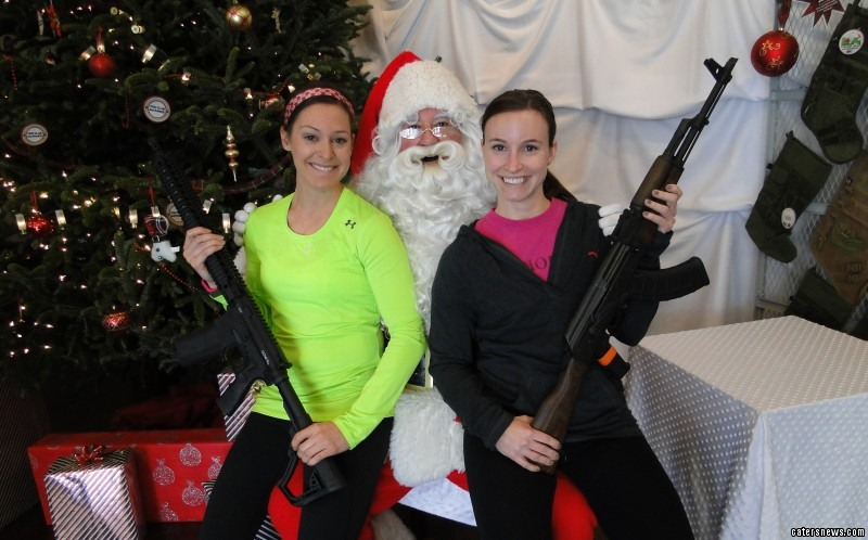 All the guns pictured with the unarmed St. Nick were deactivated