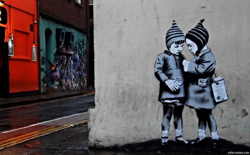 Jamie Scanlon was inspired by the works of Banksy