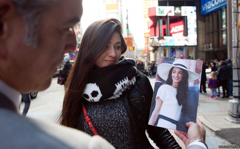 David took to Times Square in a bid to find his an Amal of his own