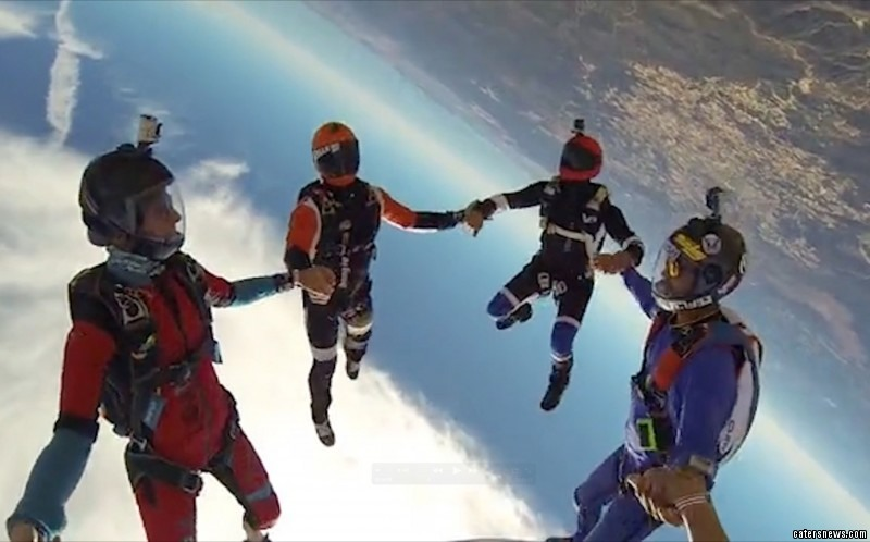Alexander Kelly and his friends regularly choose skydives over a trip to the pub