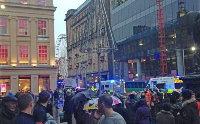 Seven people have been admitted to hospital with injuries linked to the incident